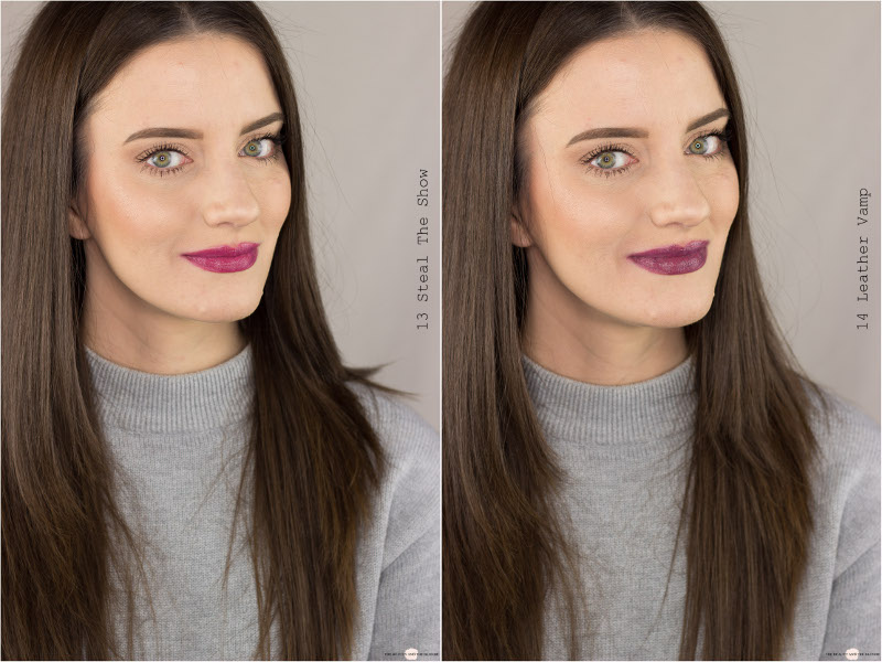 essence Colour Up! Shine On! Lipsticks Steal the show leather vamp swatches