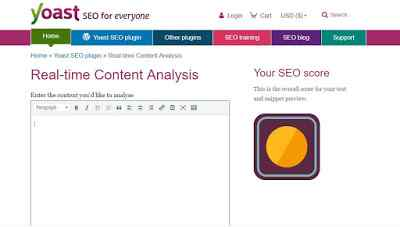 yoast real-time content analysis