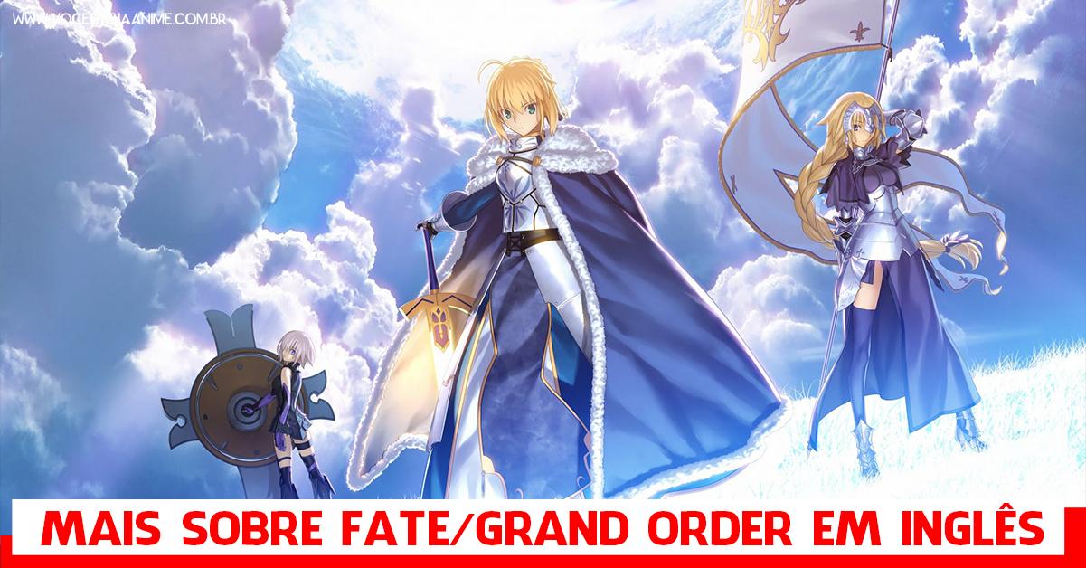 Fate/Grand Order lançamento nos eua