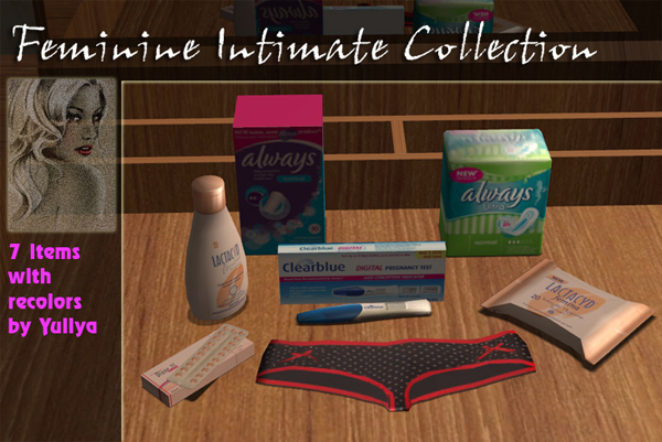 Feminine Intimate Collection  My Sims 2 Clutter Spot