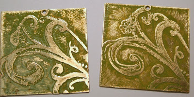 Etching adventures in brass: Step #4 - patina-ed & glazed :: All Pretty Things