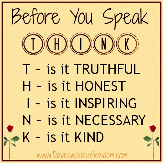 Quotes On Thinking Before You Speak: Daveswordsofwisdom.com: Think Before You Speak
