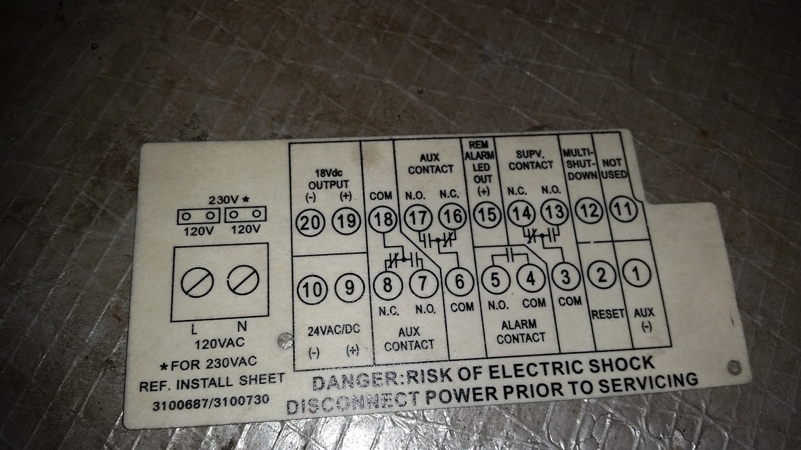 Nicks Fire Electrical Safety Security Blog 2017 Contacts Wiring Series As You Can See The On Detector Is Wired To Supervisory Terminals Of Duct 313 Instead Alarm 45 Where It Should