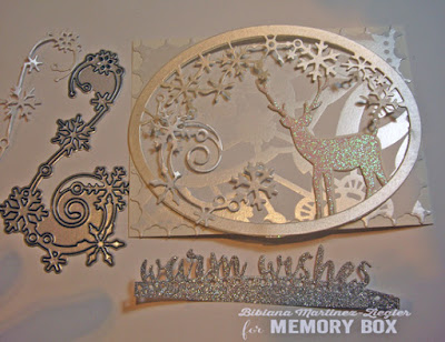 white christmas card assembly