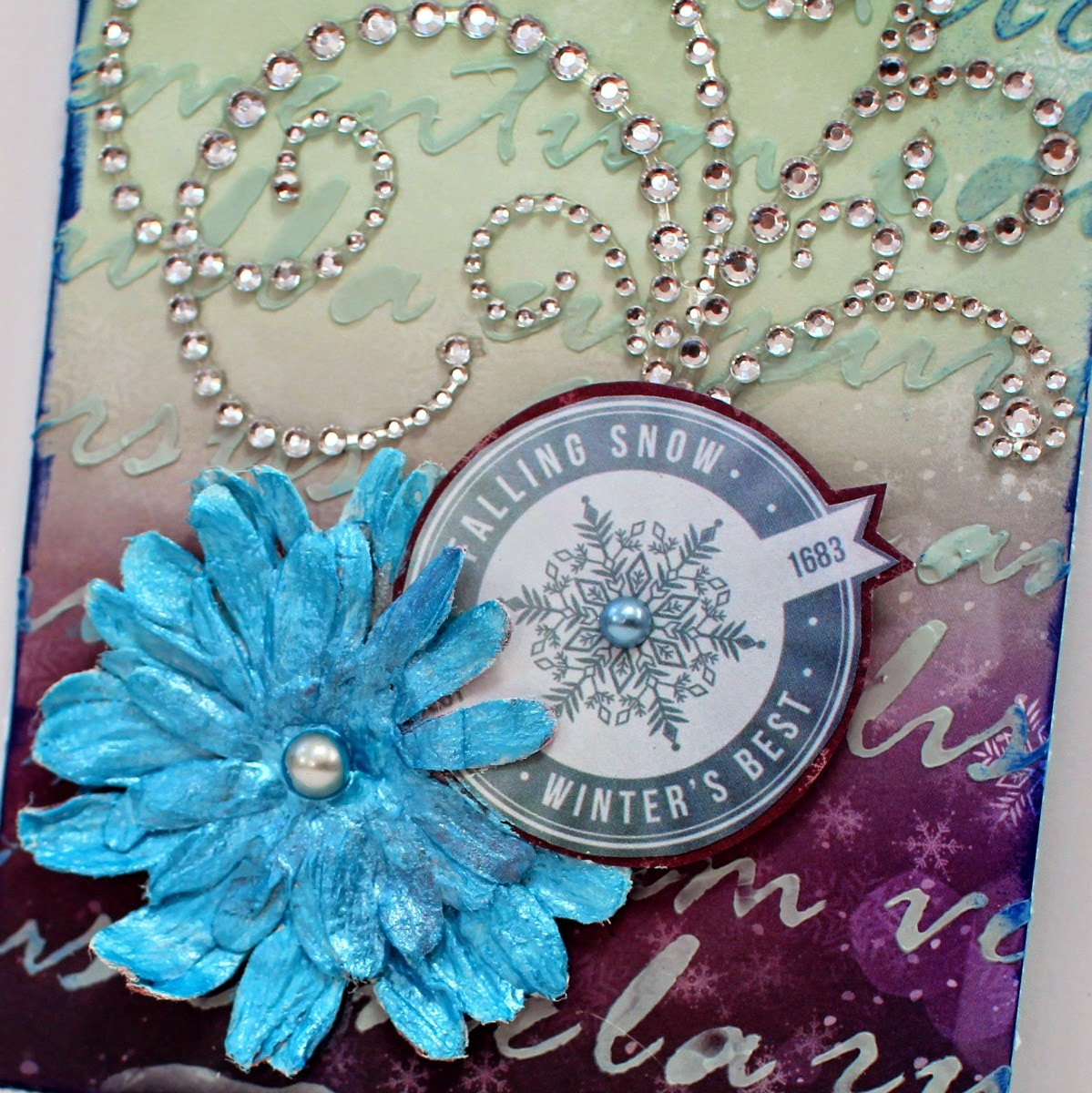 Winter's Best card by Ilene Tell using BoBunny Altitude