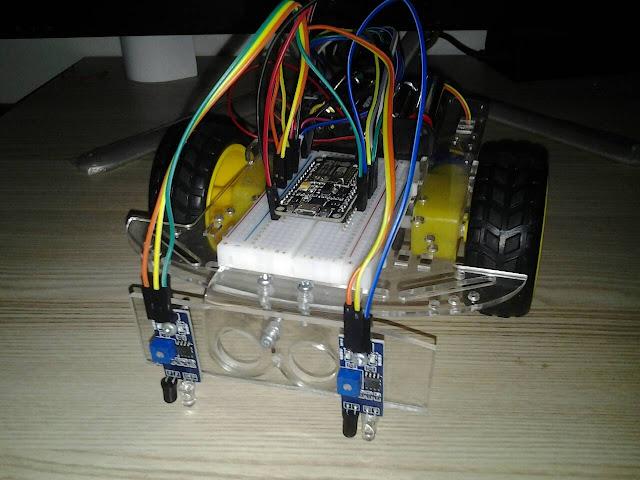 โปรเจค หุ่นยนต์เดินตามเส้น ESP8266 NodeMCU V2