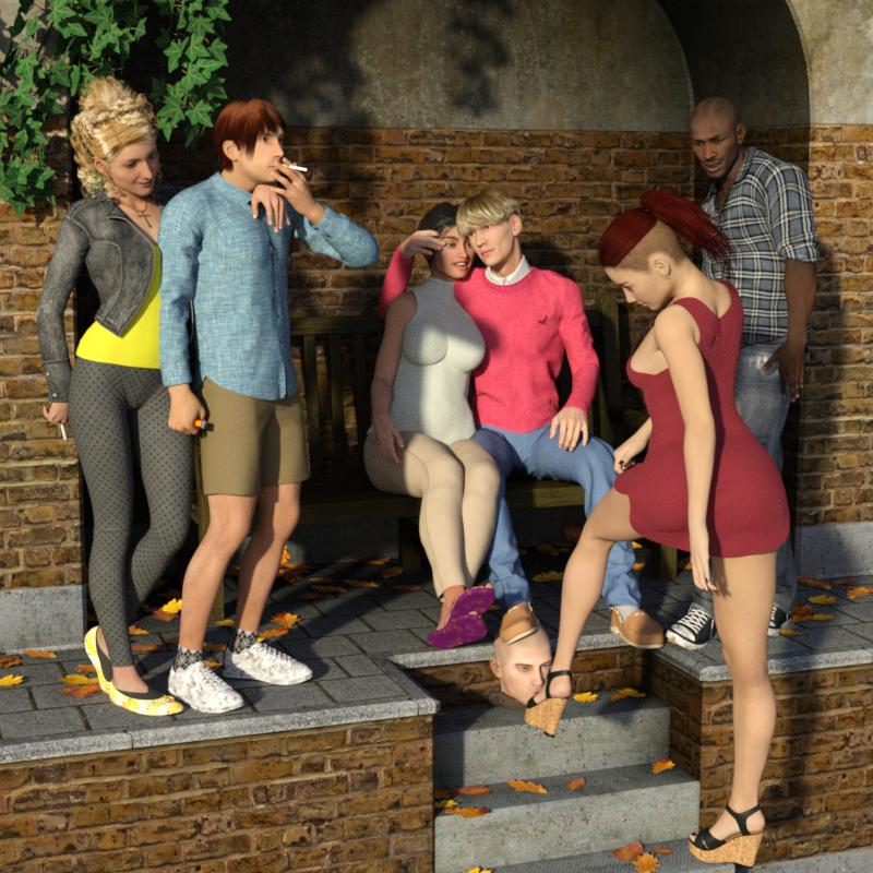 Footslave Fantasies: Park-Alcove Footslave