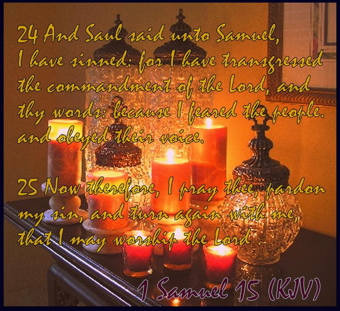 Red Pill Diaries: 1 Samuel 15 (KJV)