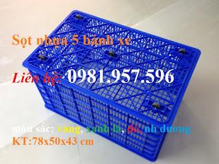 Sọt nhựa có bánh xe, sọt nhựa 5 bánh xe, Sọt nhựa có 5 bánh xe tại Hà Nội