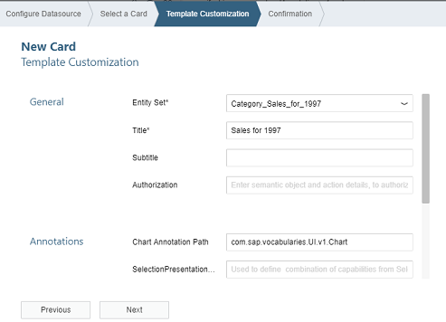 Fiori Overview Page (OVP) Application - Creating Analytical Card