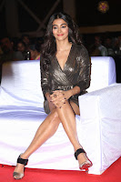 Pooja Hegde looks glamarous in deep neck sleevless short tight golden gown at Duvvada Jagannadham thank you meet function 090.JPG