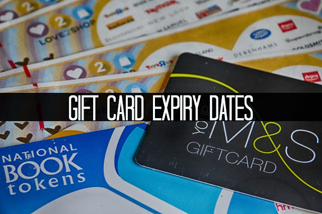 Gift card expiry dates