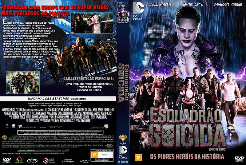 Capa Esquadrão Suicida (2016)