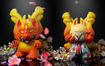 "Mighty Jaxx Exclusive Kyuubi 8"" Dunny Red Edition Vinyl Figure by Candie Bolton x Kidrobot"
