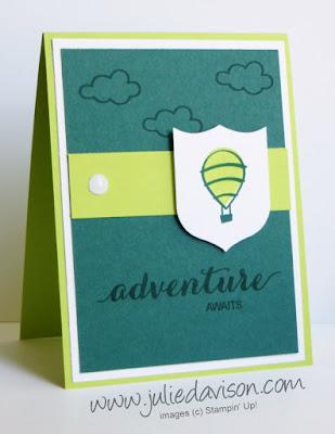 Stampin' Up! Host Exclusive Dare to Dream ~ Adventure Awaits Card ~ www.juliedavison.com