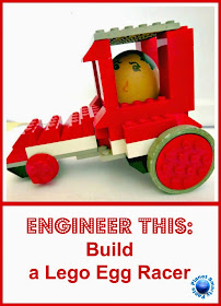 STEM challenge for kids - build a fast and safe car for egg drivers
