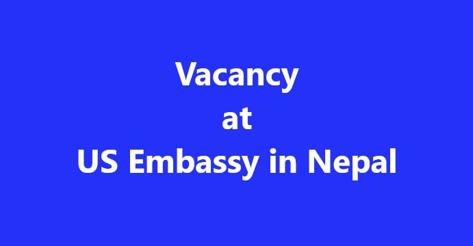 Vacancy Announcement from American Embassy.