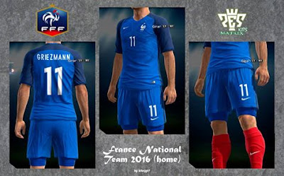 PES 2013 France 2016 Home & Away Kits by kIkEJG17