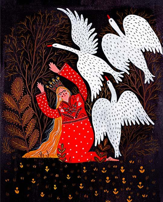 Ilustración y un estilo muy de navidad con Dinara Mirtalipova