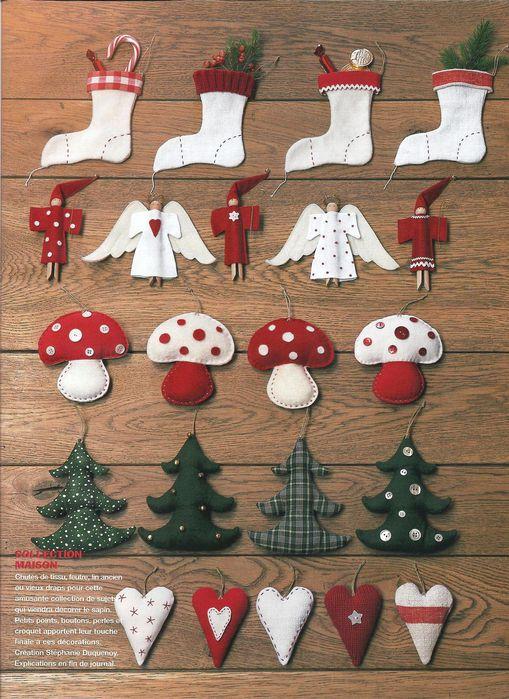 Новогодние текстильные игрушки своими руками с выкройками
