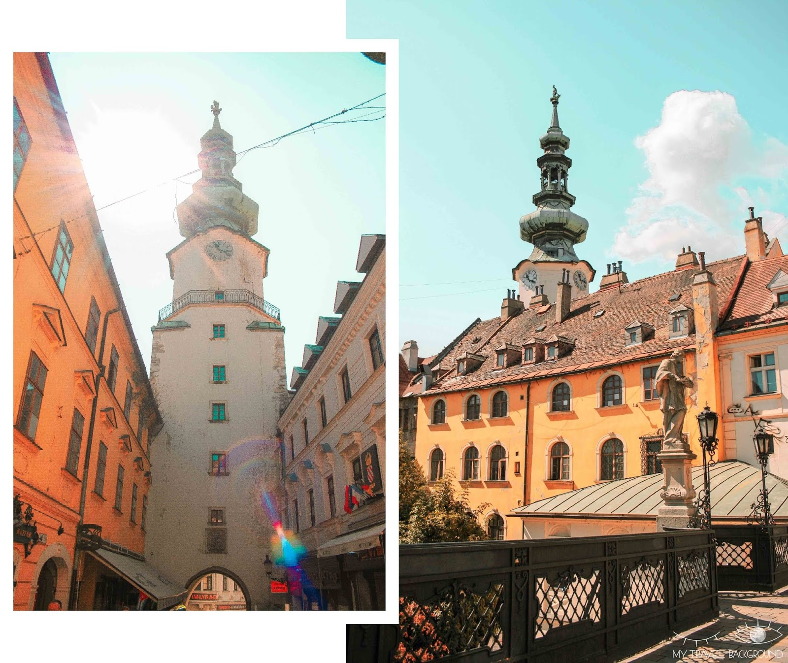 My Travel Background : visiter Bratislava, la capitale de la Slovaquie, en 1 jour - Porte Michel
