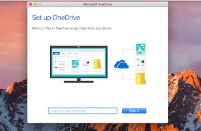 ووضع الظلام إلى OneDrive لـ Mac