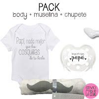 blog mimuselina pack dia del padre muselina chupete y body frases papá