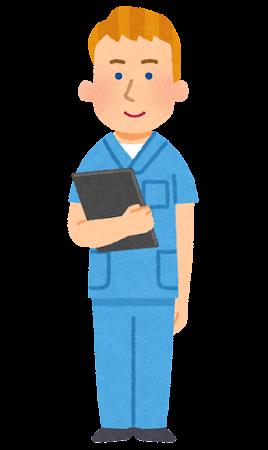 外国人看護師のイラスト(男性)