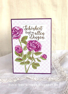 """schönheit in allen Dingen Karte mit dem Stampin' Up! Kartensortiment """"Erinnerungen und mehr"""" Blumengarten"""