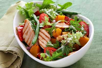 A Nutritional Salad Packed with Protein, Vegetables and Fruit