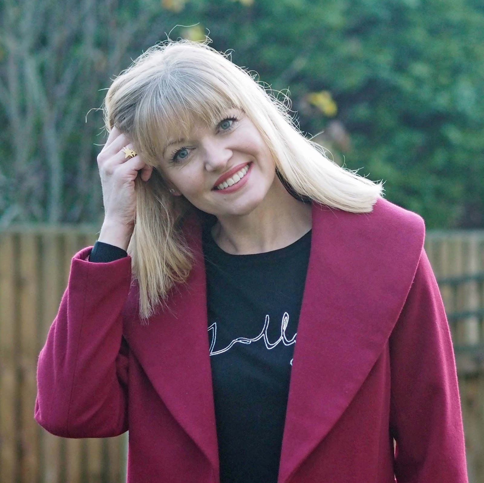 Over 40 life and style blogger, close-up image