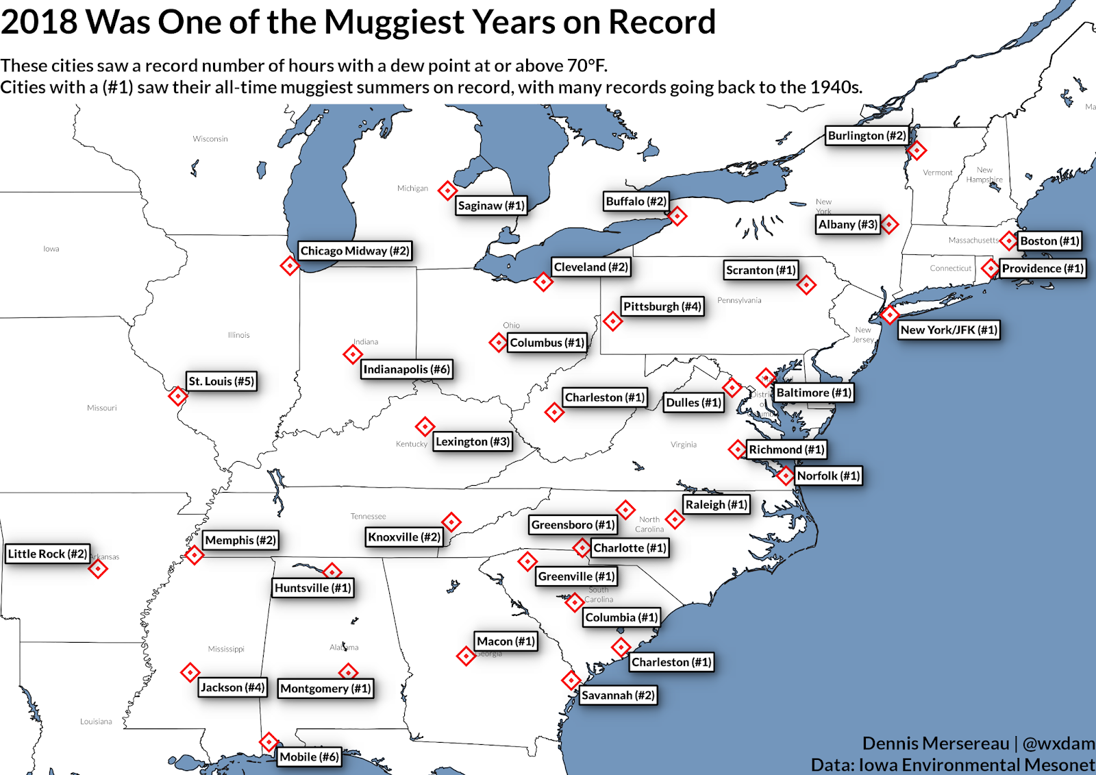 This Has Been One of the Eastern U.S.\'s Muggiest Years on Record ...