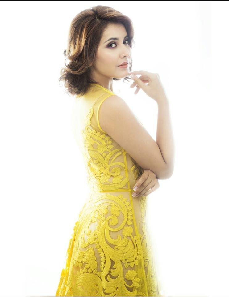 Tollywood Actress Raashi Khanna Latest Photos In Yellow Dress