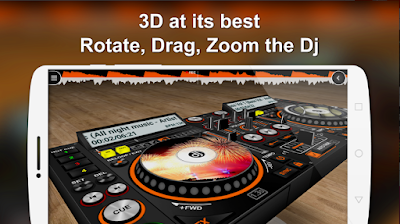 DiscDj 3D Music Player is a music player with a super cool 3D DJ user interface in a virtual 3D world where the Dj machine is floating in the virtual area. This dj app supports Android 2.3+  Experience a music player in the form of a DJ mixer app where you can use it to do the DJ work in a party OR  Normally play continuous music where the dj shifts songs from one turntable / deck to another without any breaks OR You can use anyone of the two turntables / decks as a normal music player.   DiscDj 3D Music Player is a music player with the looks and a lot of features of a real DJ. Its hard to get precise control over it as the screens are small but hope you will enjoy the mini DJ mixer app.  Key Features:-  * 3D DJ user interface like a real dj machine where the dj machine is flying and where you can move around the dj machine for seeing its beauty from different angles by just scrolling. Lock and reset feature is available at the top-right corner of the screen to reset to the original position  * Discs with album arts  * Central control to play/pause next/previous both the discs  * Autofade ( Automatic Crossfade ) with adjustable timer & ON/OFF feature  * Button click fade – it's like autofade on clicking the buttons  * Manual song shift slider / crossfader  * Mixer with playlist, equalizer, volume controls and many features  * Browse and play your music by albums, artists, folders, composers, genres, playlists, songs, more advanced browsing like albums of particular artist & genre  * First ever dj app with 10 Band Equalizer - Under the Dj push-button-sliding, beautifully animated 10 Band Equalizer for Android 2.3+. 10 bands give you more precise control with more accuracy. 17 in-built presets in the equalizer - Classical, Club, Dance, Full Bass, Full Bass and Treble, Full Treble, Headphones, Large Hall, Live, Party, Pop, Reggae, Rock, Ska, Soft, Soft Rock & Techno  * Sampler Addon - 4 sets (Default, 808 Drum Kit, Drum Kit, Rise n Drop - each having 6 sound samples) 