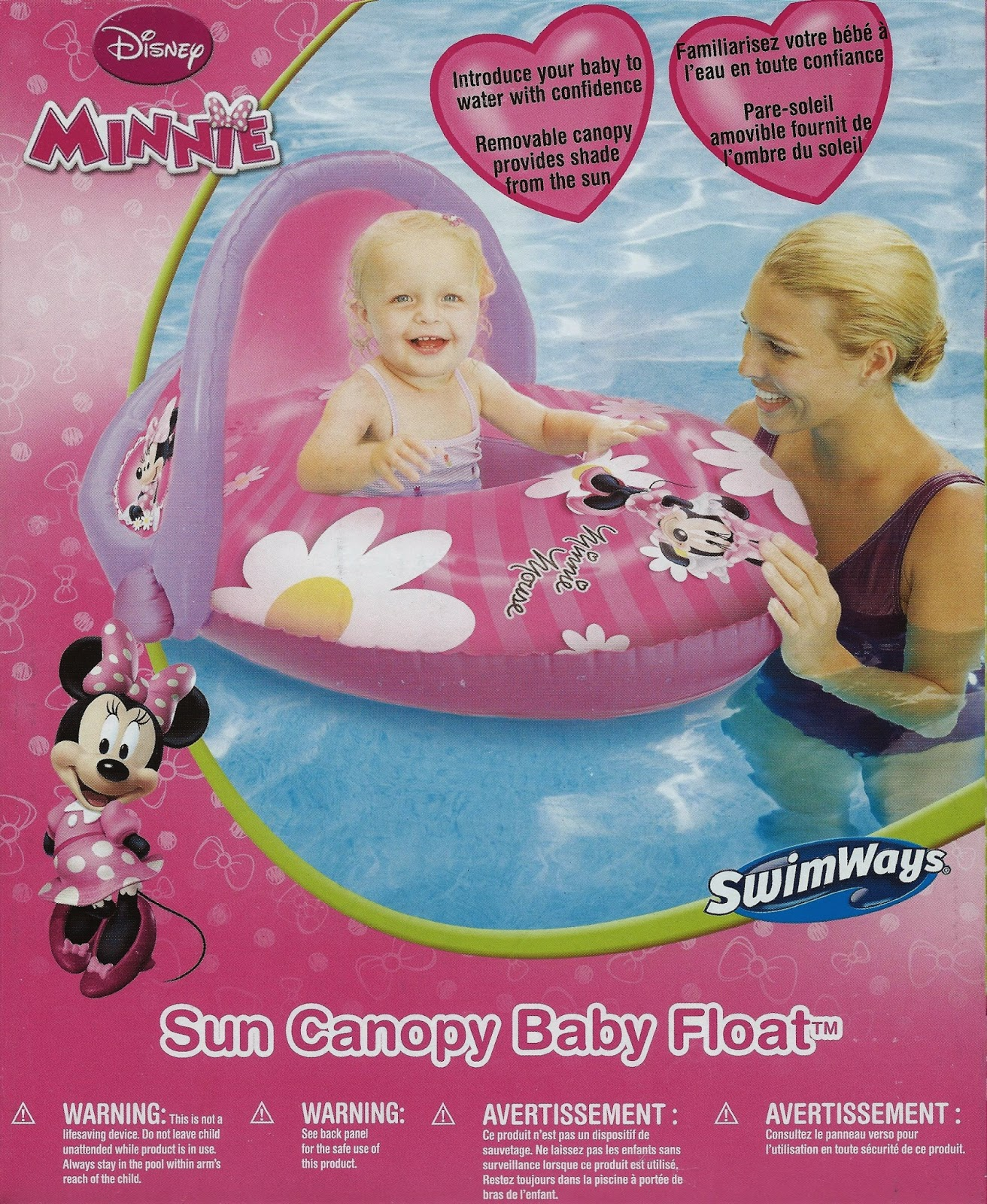 Disney Minnie Mouse Sun Canopy Baby Float MM19