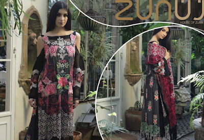 5 Zunn Definition Emb Khaddi - Pure Net Formal 2018