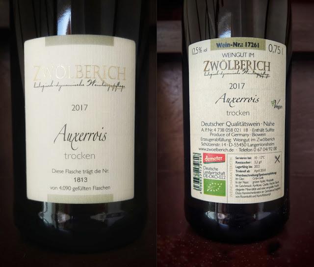 Auxerrois aus dem Weingut im Zwölberich