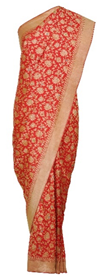 Red Banarasi Meenakari-Kadhwa Zari Pure Silk Saree
