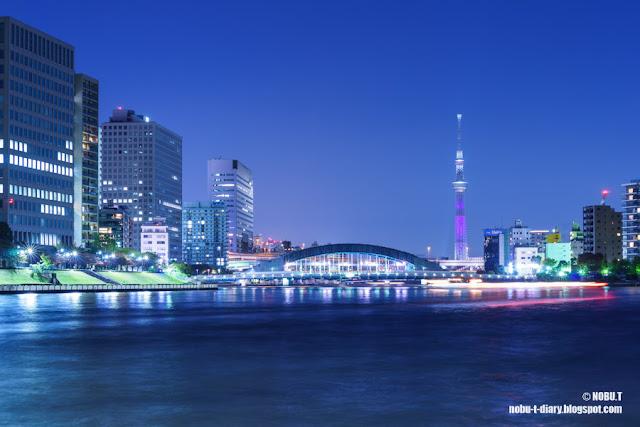東京スカイツリー「パープル」の特別ライティング