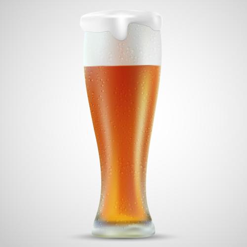 Cerveza fría y espumosa
