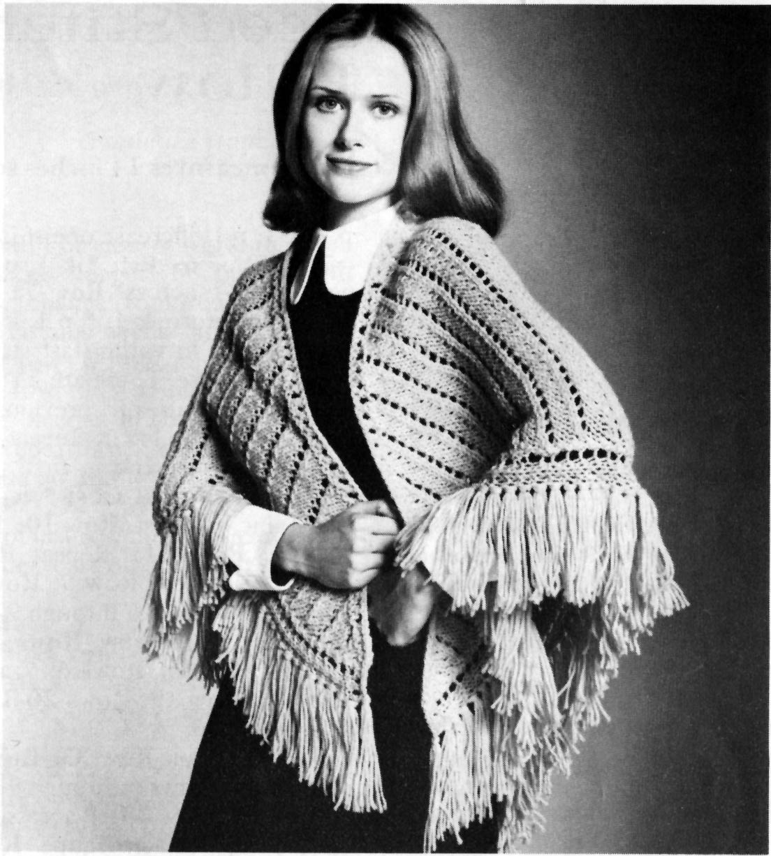 Free Knitting Patterns For Vintage Shawls : The Vintage Pattern Files: 1960s Knitting - Kate Shawl