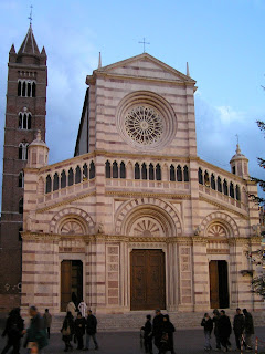 The cathedral in Grossetto, Tuscany, birthplace of Elsa Martinelli