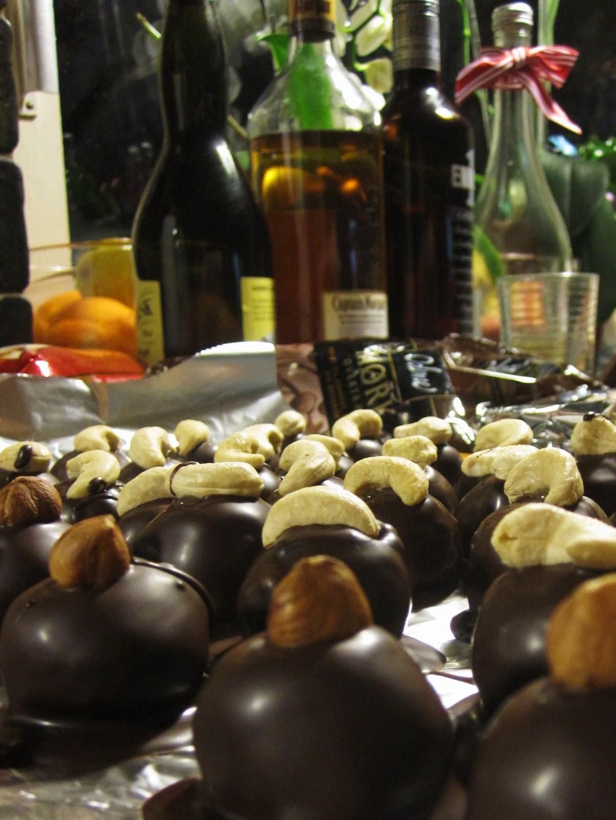 fyldte chokolader med hindbær