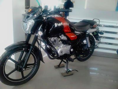 Bajaj V 12 Motorcycle in dealer