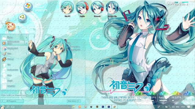 Windows 10 Ver. 1709 Theme Hatsune Miku by Enji Riz