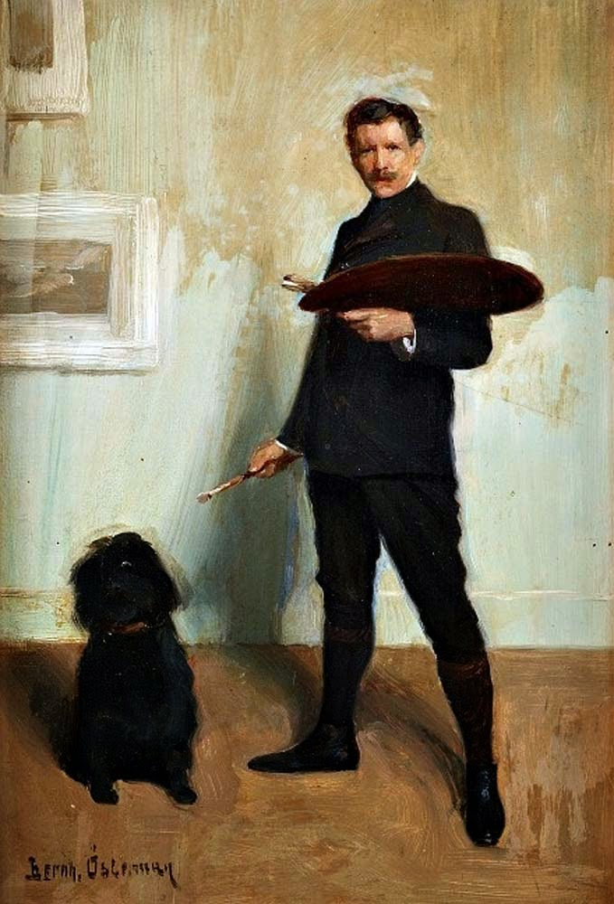 Bernhard Österman, Self Portrait, Portraits of Painters, Fine arts, Painter Bernhard Österman