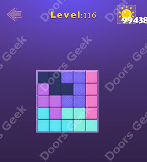 Cheats, Solutions, Walkthrough for Move Blocks Easy Level 116