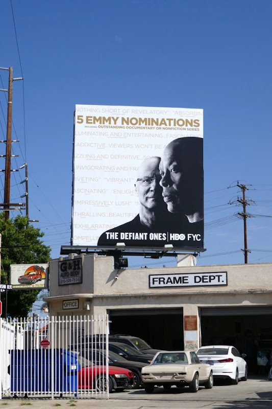 Defiant Ones 2018 Emmy nominee billboard