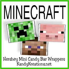 Have fun with these candy bar wrapper printables perfect for your next Minecraft birthday party.  There's nothing like a little chocolate to help you play and have fun.