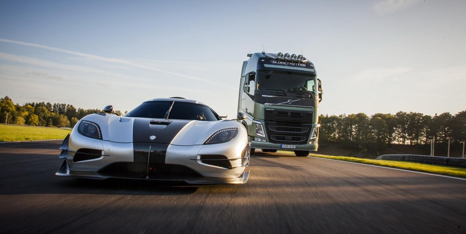 Fastest Car In The World Wallpaper Volvo Trucks To Challenge Koenigsegg One 1 In New Spot